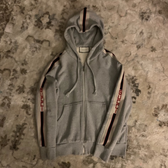 de3f59e9cf2 Gucci Other - 🎁Saleeee🎁Hooded zip-up with Gucci stripe. US M